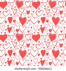 seamless heart pattern,hand drawn heart bubble,happy valentines day,gift wrap
