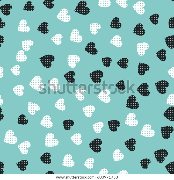 Seamless hearts pattern. Vector repeating texture. Perfect for printing on fabric or paper.