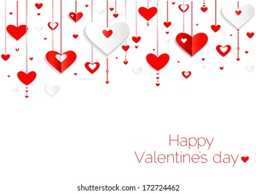 Seamless hearts pattern.Happy valentines day card. border design.vector