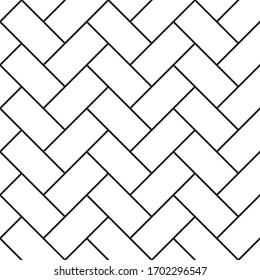 Seamless Herringbone Pattern in Black and white concept