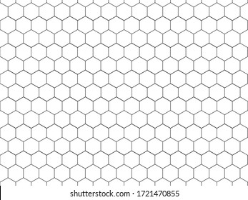 Seamless Hexagon Geometric Pattern in Black and White