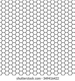Seamless hexagon grid. Vector illustration.