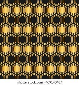 seamless Hexagon pattern background.