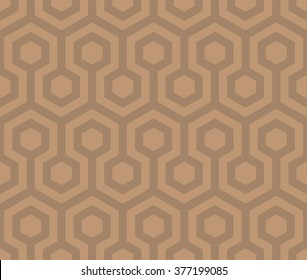 Seamless hexagon vector pattern.