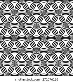 Seamless hexagonal curved line pattern