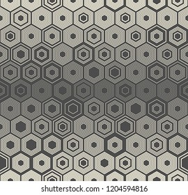 Seamless Honeycomb Wallpaper. Decorative Hexagon Pattern. Abstract Graphic Design