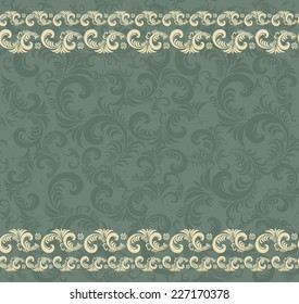 Seamless horizontal background in the style of Damascus