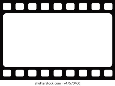 The seamless horizontal blank traditional retro film frame template background