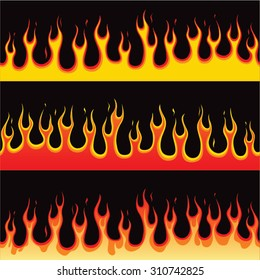 Seamless Horizontal Fire Flame Illustration