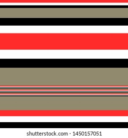 Seamless horizontal Multitrack stripes pattern vector