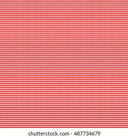 Seamless horizontal striped pattern. Repeated red embattled lines on white background. Heraldry motif. Abstract wallpaper. Vector illustration