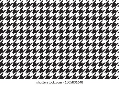 Seamless Hounds Tooth Pattern, Vector Design