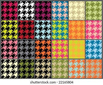 seamless houndstooth background set