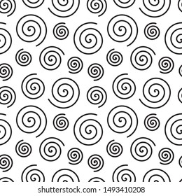 Seamless hypnotic pattern with spirals. Vector illustration.