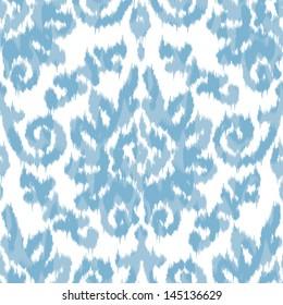 Seamless Ikat Damask Background Pattern