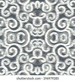 Seamless Ikat Loop Background Pattern