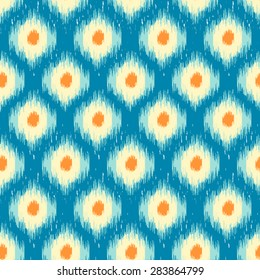 Seamless Ikat  pattern background vector Ogee Weave Background Pattern
