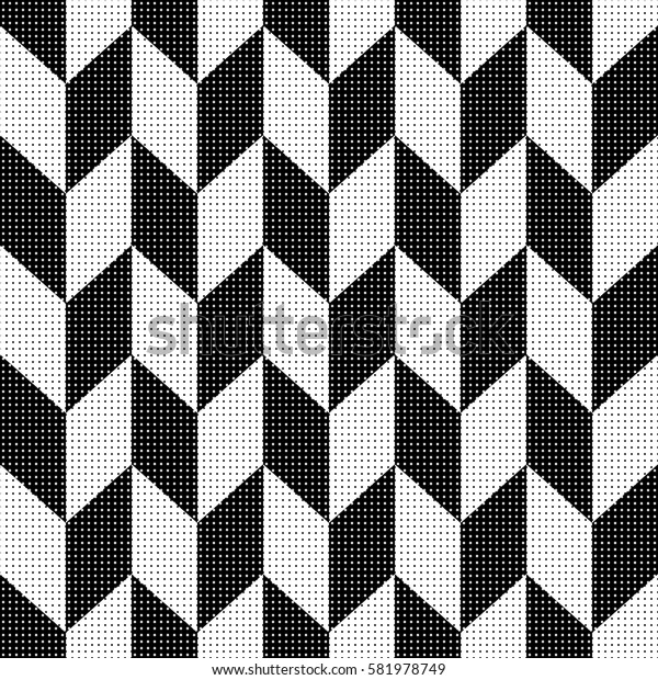 Seamless illustrated pattern in black and white
