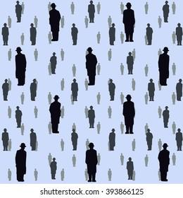 seamless illustration of falling people.Golcomda. Vector illustration