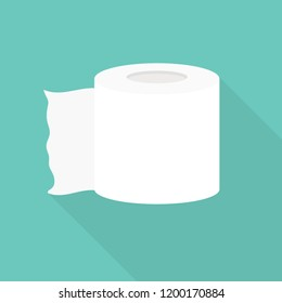 seamless illustration with toilet paper, product used in sanitary and hygienic purposes