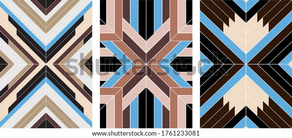 Seamless indian style boho patterns, navajo, aztec geometric vector ornament, decorative texture