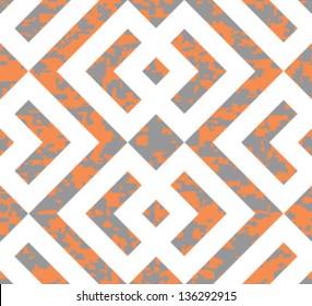Seamless Interlocked Squares Geometric Background Pattern