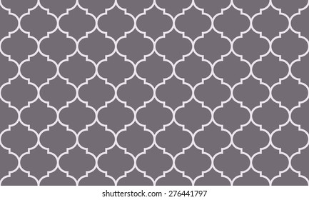 Seamless inverse black and white wide moroccan pattern vector