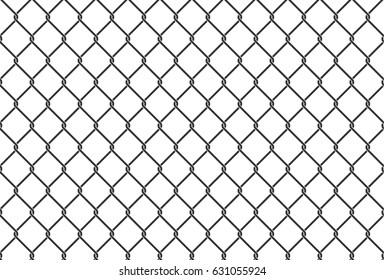 Seamless iron net illustration. Black metal net fence. Vector background