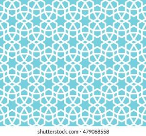 Seamless Islamic Lattice Pattern.