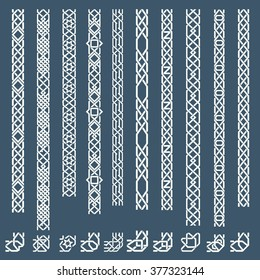 Seamless islamic ornamental borders. Arabic frame pattern. Vector illustration