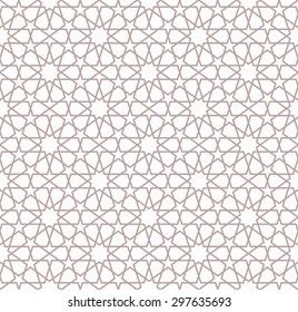 Seamless Islamic Pattern of 10 and 5 Point Stars.