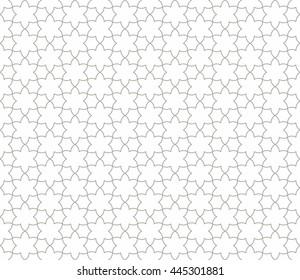 Seamless Islamic Pattern Line Art.