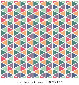 Seamless Isometric pattern. Vector texture. Geometrical triangles background
