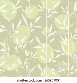 Seamless japanese style pattern with grunge texture