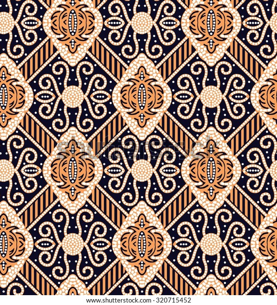 Seamless Javanese Batik Pattern Stock Vector (Royalty Free