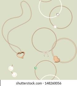 Seamless jewelry pattern