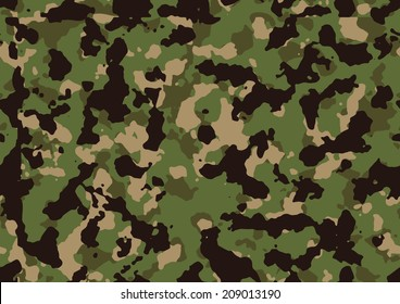 Seamless jungle camo texture vector