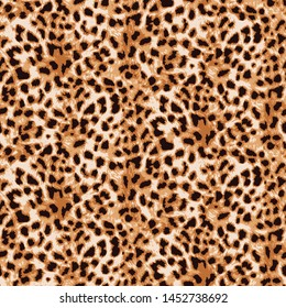 Seamless jungle leopard skin pattern on background