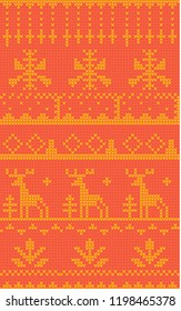 Seamless knit sweater pattern, knitwear, Christmas ornament, New Year's pattern, festive knitwear, texture of yarn