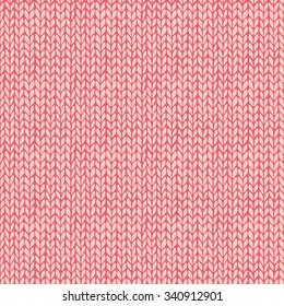 Seamless knitted hand drawn background. Neutral winter texture. Vector illustration