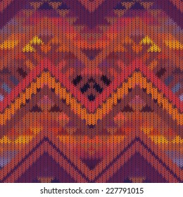 Seamless knitted navajo pattern, vector illustration.
