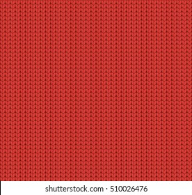 Seamless knitted red pattern, woolen fabric, woolen cloth