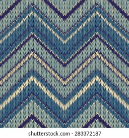 Seamless knitted zigzag pattern