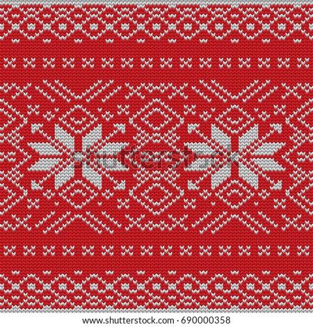 59473523c Seamless Knitting Pattern Christmas Sweater Design Stock Vector ...