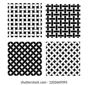 Seamless knot pattern in black and white, vector
