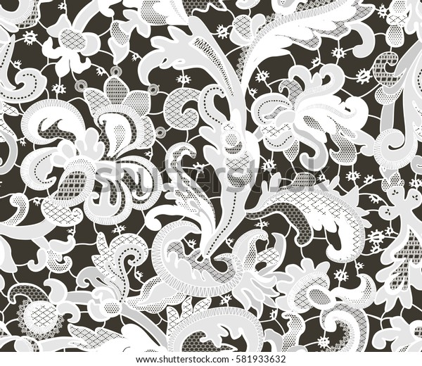 seamless lace pattern with flowers.