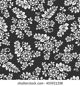 Seamless lace pattern with flowers. Infinitely wallpaper, decoration for your design, lingerie and more