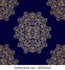 Seamless laced pattern