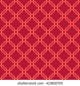 Seamless Lattice Pattern of Chinese Style.