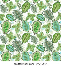 Seamless leaf background  for textiles and gift packaging designs